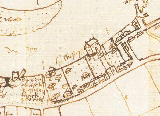 De spijker Hulckesteijn in 1551