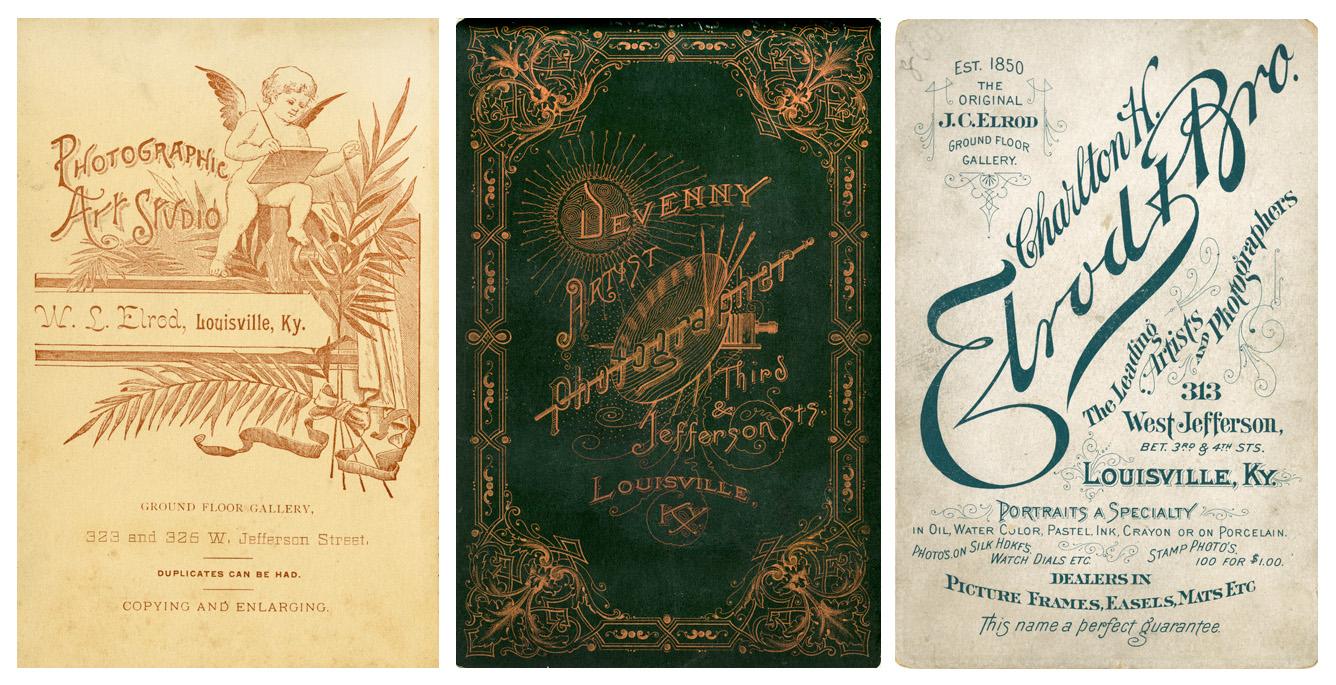 Achterzijde kabinetkaarten
