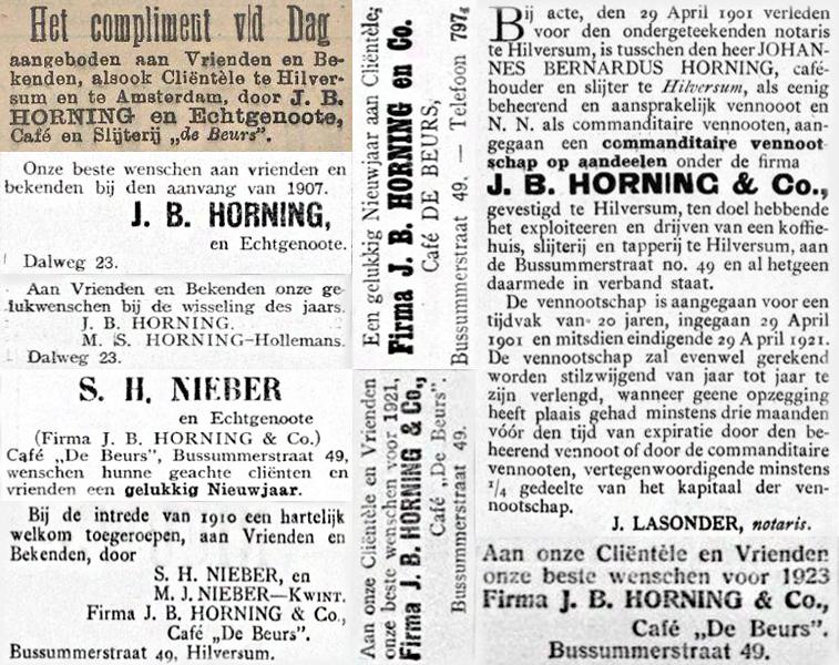 Advertenties uit kranten