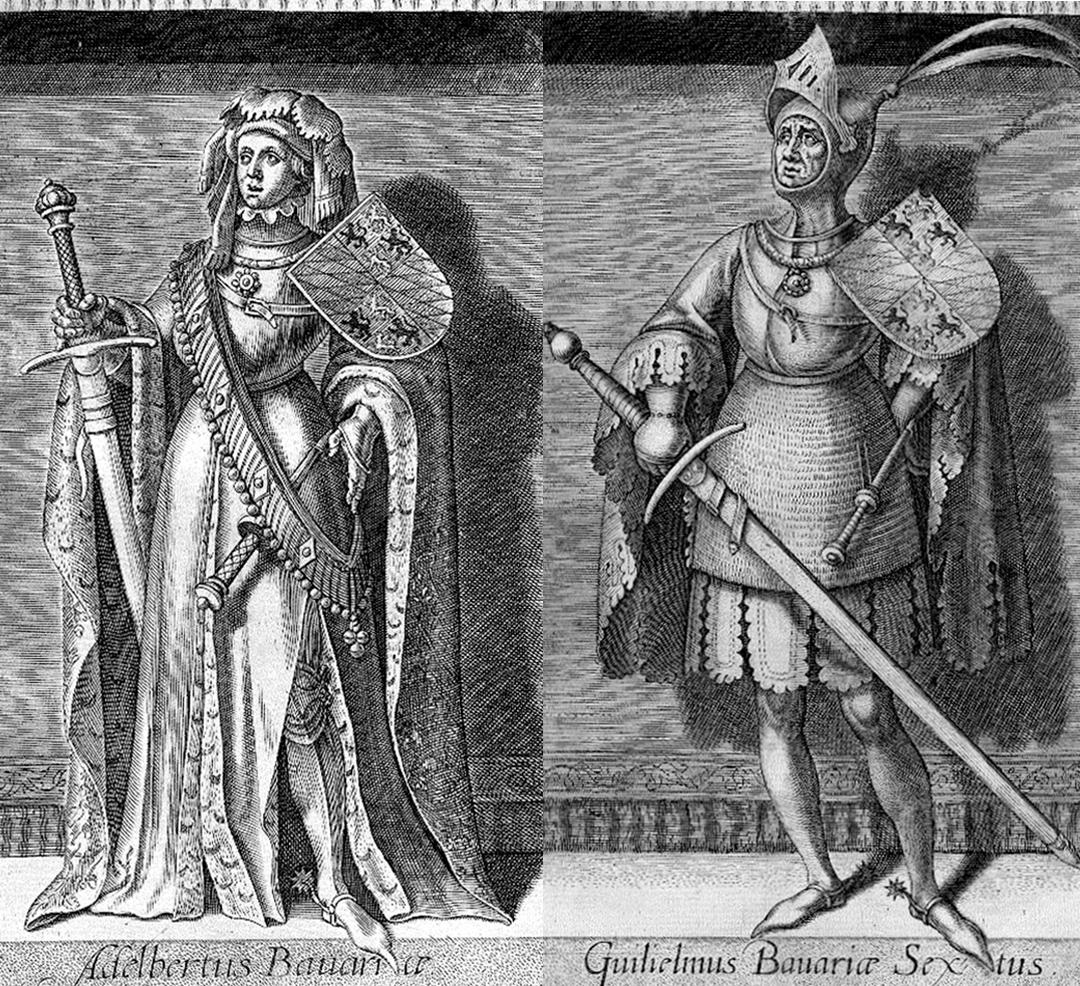 Albrecht van Beieren en Willem van Oostervant