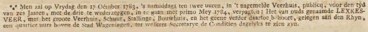 Amsterdamse Courant, 27 september 1783
