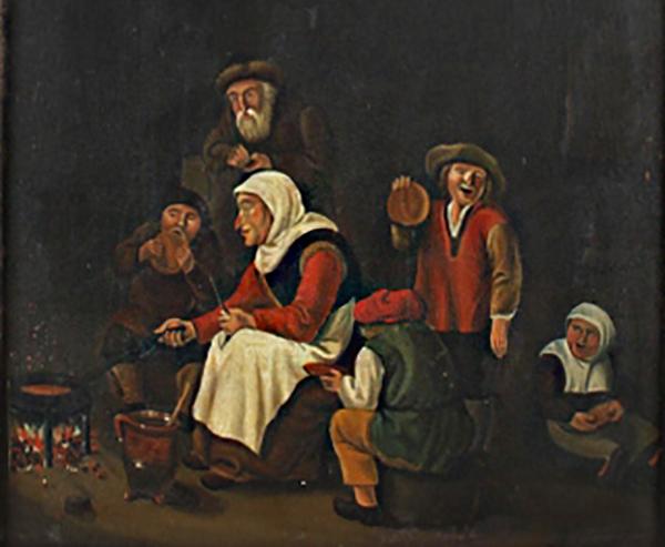 Detail spekdikken eten door Albertus Johannes van Ludolphi