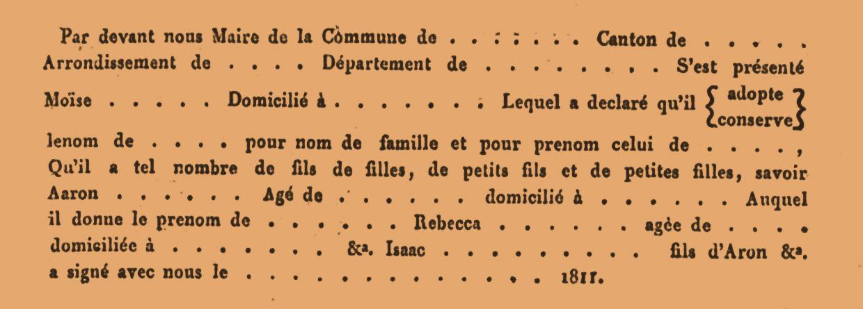 Franstalig formulier der verklaringen.