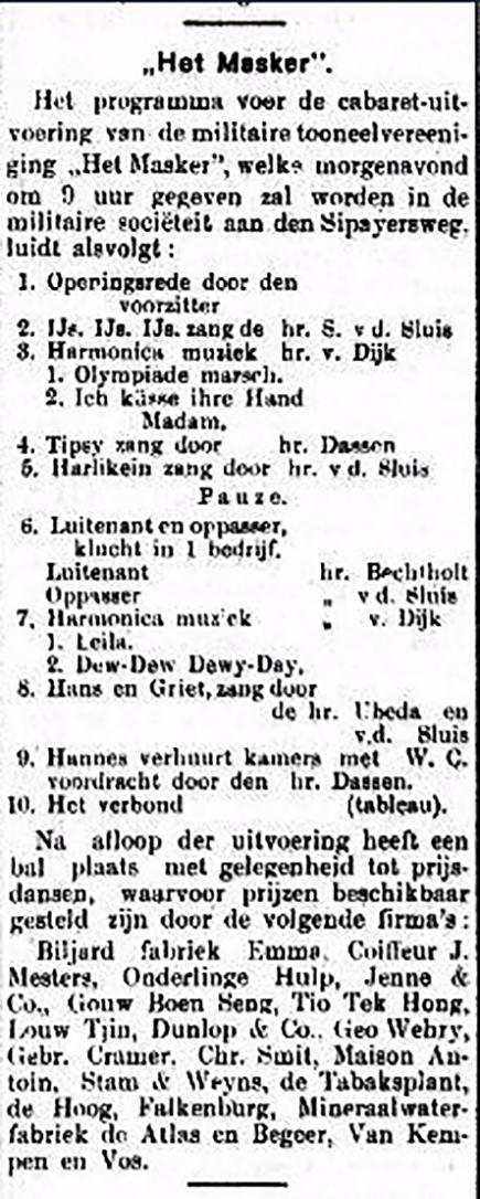 Het Masker Bataviaasch Nieuwsblad 27-09-1929