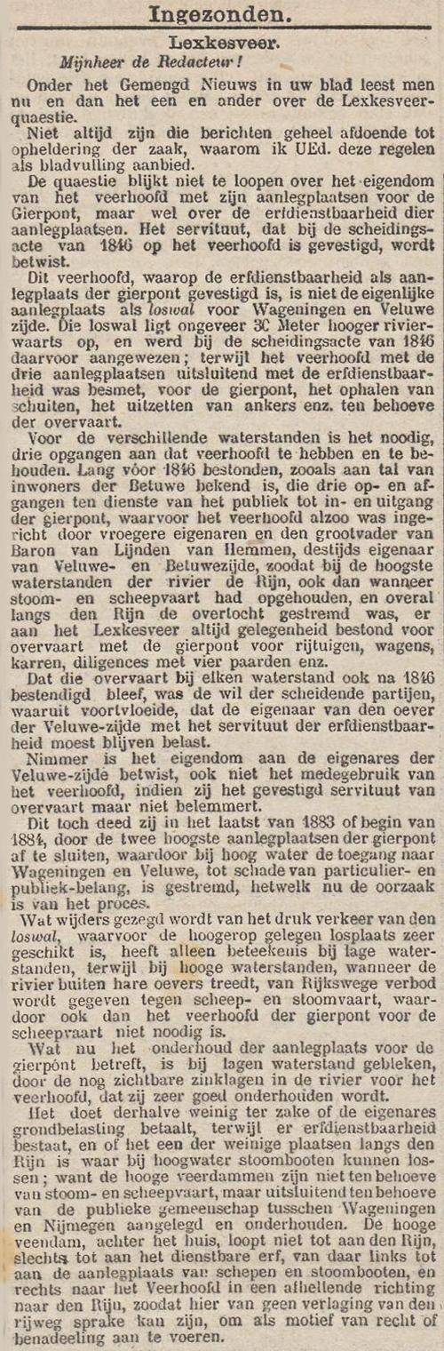 Het nieuws van den dag kleine courant, 20 december 1884
