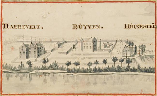 Hulckesteijn rond 1740