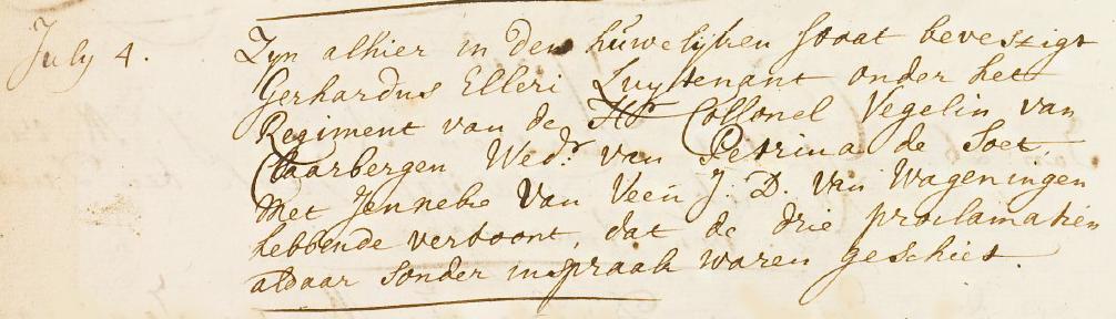 Huwelijk Gerhardus Elleri en Jenneke van Veen
