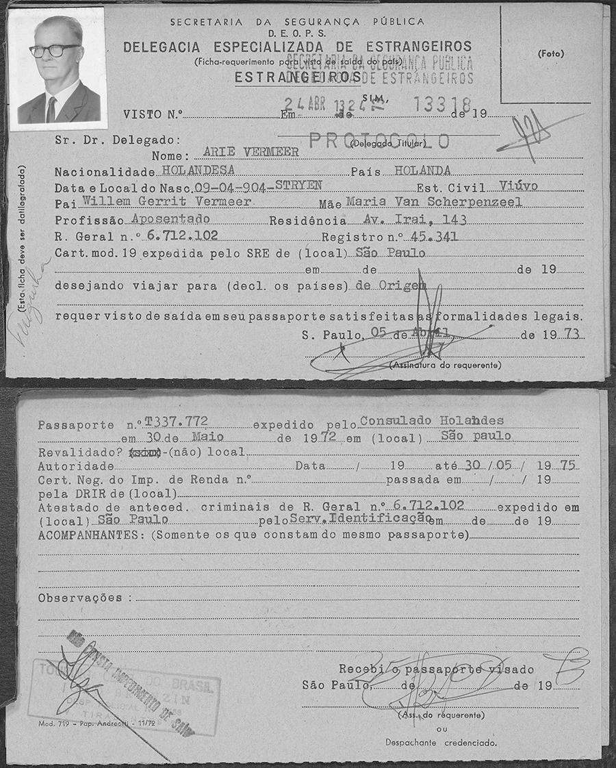 Immigratiekaarten São Paulo-Brazilië