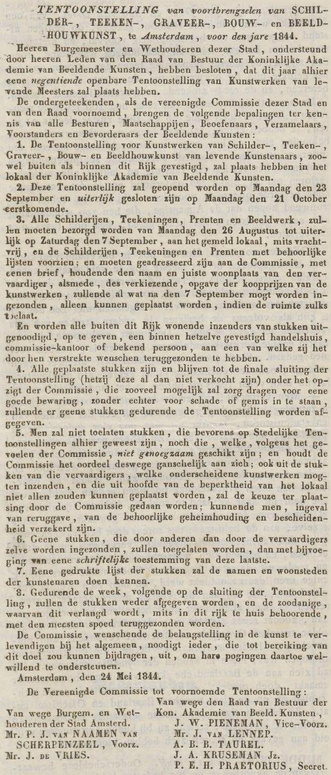 Krantenbericht Tentoonstelling Amsterdam