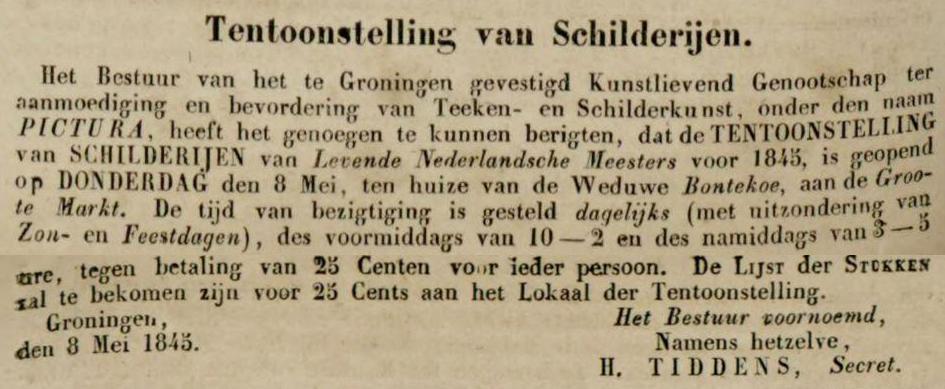 Krantenbericht Tentoonstelling Groningen
