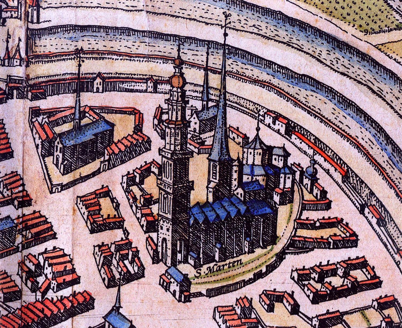 Noord-oostelijk deel Groningen rond 1575