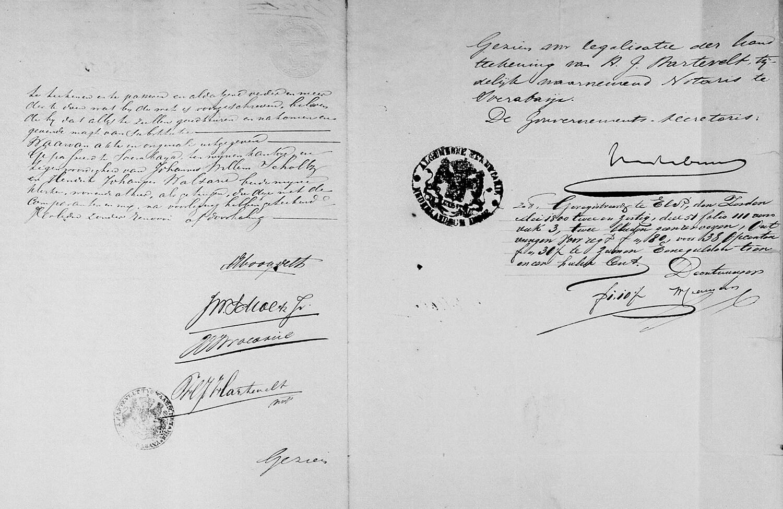 Notariële volmacht akte (Soerabaija, 7 maart 1862) vervolg