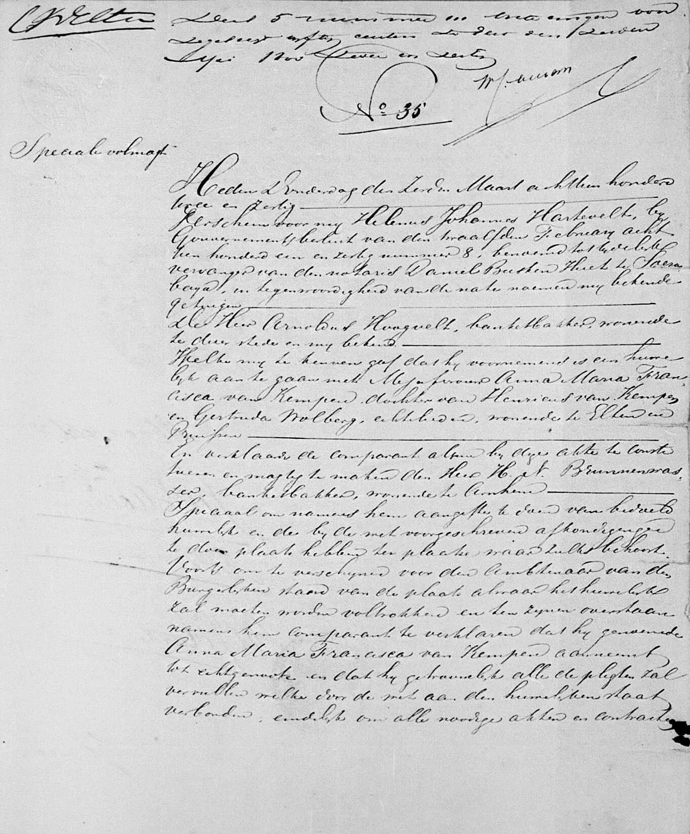 Notariële volmacht akte (Soerabaija, 7 maart 1862)