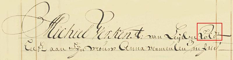 Paleografie voorbeeld 1