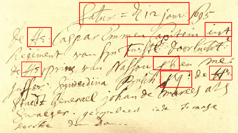 Paleografie voorbeeld 2