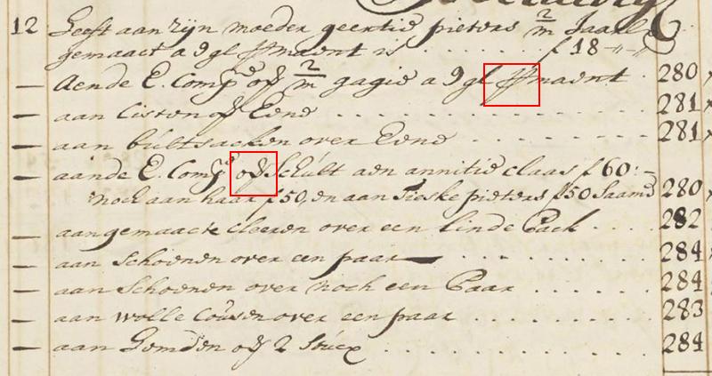 Paleografie voorbeeld 3a