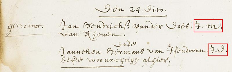 Paleografie voorbeeld 7
