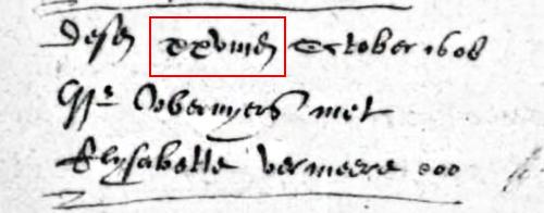 Paleografie voorbeeld datum