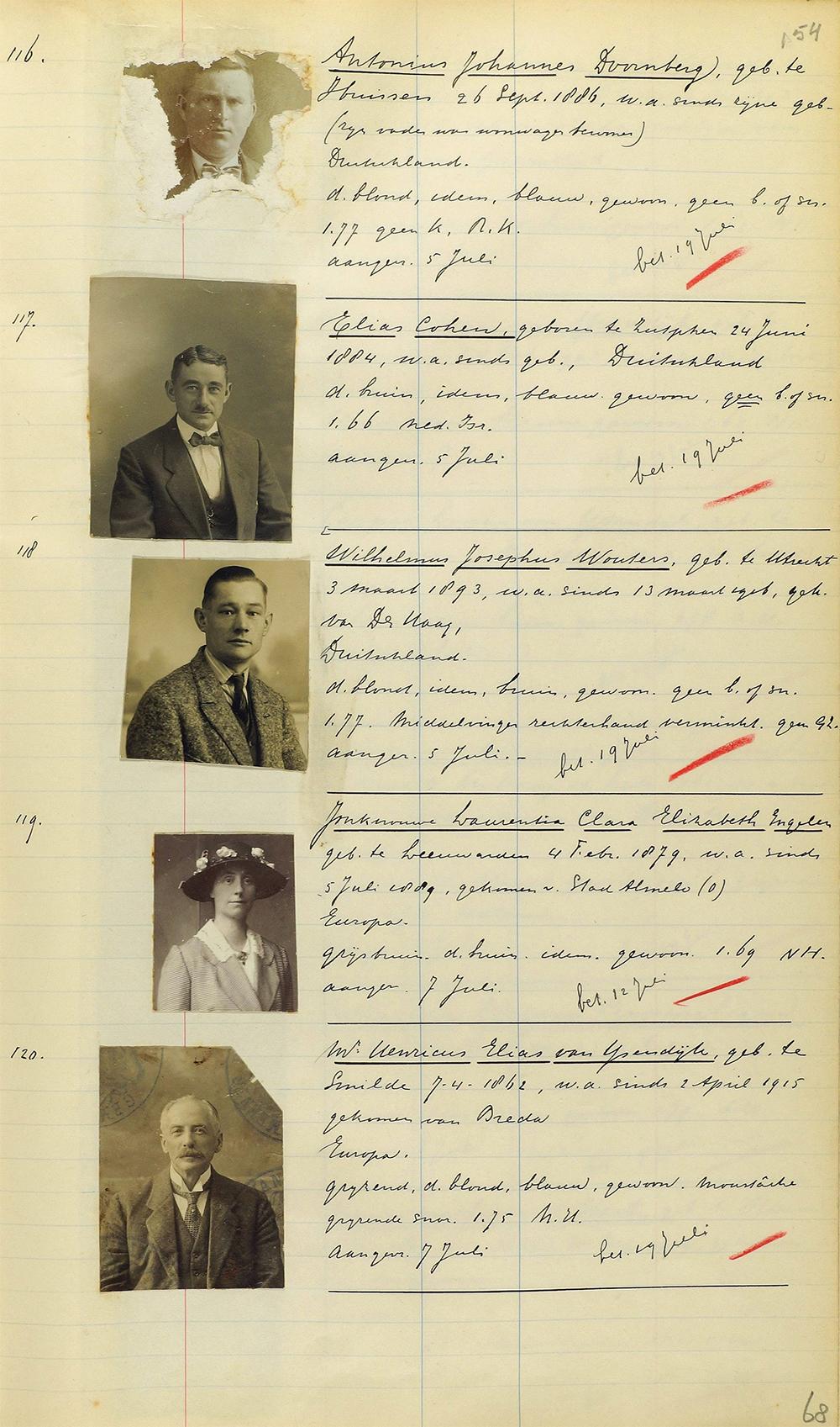 Register verstrekte paspoorten Zutphen