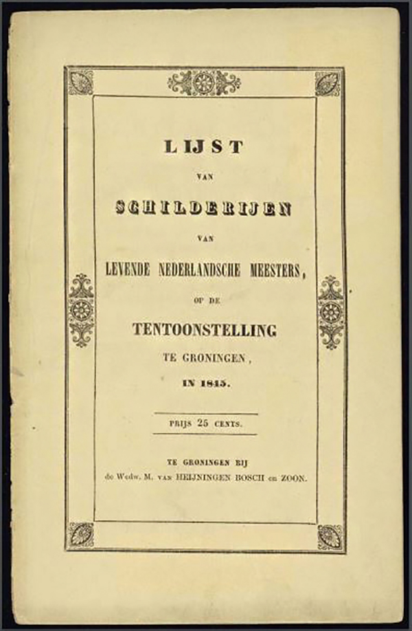 Tentoonstellingsboekje Groningen