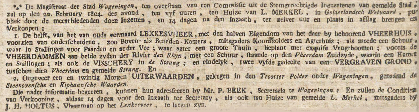 Utrechtsche courant, 25 januari 1804