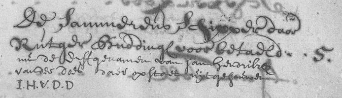 Vermelding april 1719