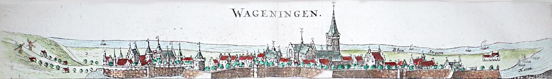 Wageningen, kaart van Nicolaas van Geelkercken uit 1654
